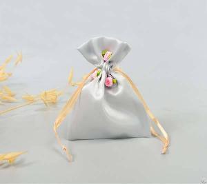 satin jewelry pouch