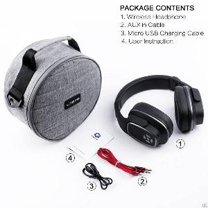 folding stereo wireless wired bluetooth headphones headset pc cell phones tv ipad