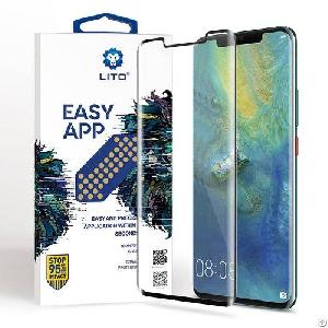 Huawei Mate 20 Pro Full Coverage Tempered Glass Screen Protector With Installation