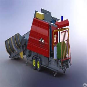 maize corn silage beet pulp tmr hay round baler machine