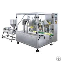 paste liquid premade bag filling packing machine