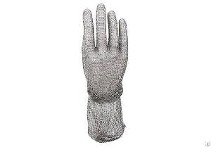 stainless steel mesh safety gloves cuff smg 005