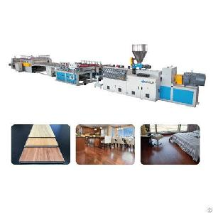 wpc flooring sheet extrusion line
