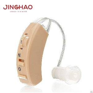 jh 129 bte fm bluetooth earphone ear zoom hearing aid amplifier