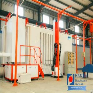 electrostatic powder spraying booth tower crane coating line