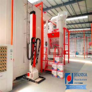 surface treatment section powder coating spray painting booth agri machinery