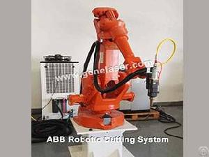 Abb Robotic Laser Cutter Fiber Laser Cutting Robot Cell Gene Automation China