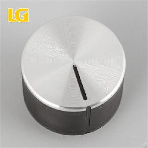 Iso9001 Oem China Manufacturer Custom Round Standard Black And Silver Double Color Gas Cooker Knobs