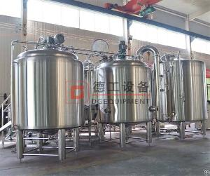 Stainless Steel Micro Beer Mashing Brewhouse Cost China