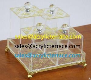 acrylic plexi chocolate box tray nut 4 base