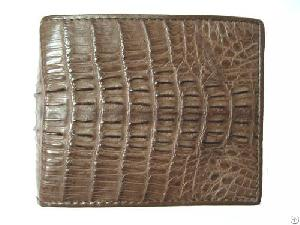 genuine crocodile leather bi fold wallets men dark brown mens bifold wallet