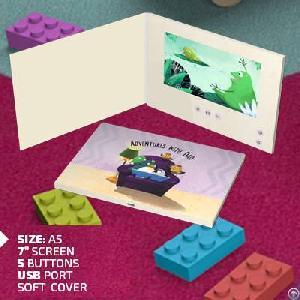 bespoke lcd video brochure impact print funtek supplier