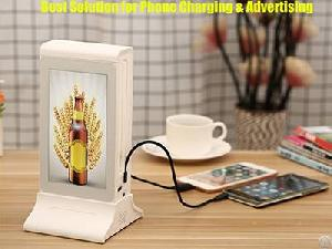 Best Coffee Table Top Mobile Charging Station Plus Android Advertising Player From Funtek