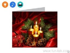 customized led light up greeting cards holiday gifts fun technology