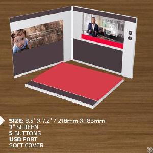 diy funtek hd 1080p video brochure card advertising campaigns