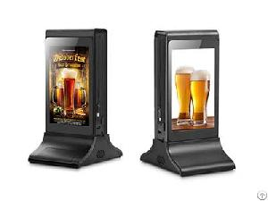 Dual Lcd Screen Wifi Table Advertising Media Player For Restaurant Sales Display