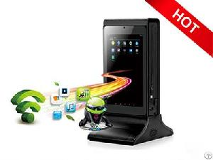 Funsuper Dual Screen Wifi Table Advertising Player Fyd835sd Restaurant Menu Charging Station