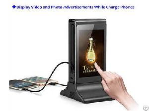 Funsuper Table Advertising Player Power Bank Phone Charger Menu For Retail Shops