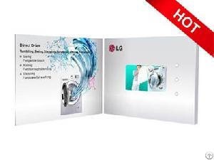 funtek led display video print brochure mp4 player factory
