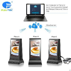 Innovative Powerbank Plus Table Lcd Advertising Player For Coffee Shops