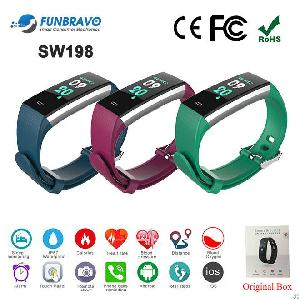 Sw198 Waterproof Ip67 Smart Fitness Bracelet Heart Rate Monitor For Ios Android