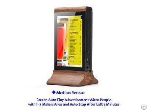Wifi Remotely Control Restaurant Table Power Bank Lcd Advertising Screen Advertising Player Fyd835g