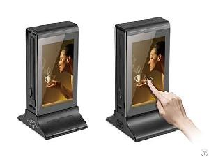 wireless dual 7 lcd touch screen android wifi restaurant table advertising player fyd 835sd