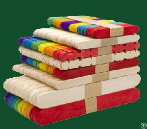 colored wooden ice cream sticks toy bars