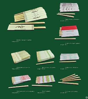 Disposable Poplar Wooden Chopsticks Snack Stick