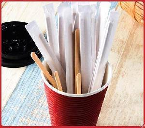 wooden coffee mix sticks stir stick