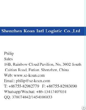 Shipment From China To Malaysia With Door To Door