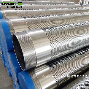 Gravel Prepacked Sand 8inch Pipe Size Heavy Duty Screen Wedge Wire Stainless Steel Well Screens