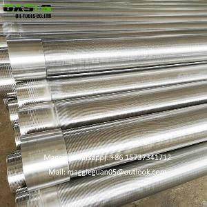 stainless steel wire wound screen pipes water cylinder