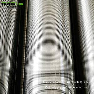 tp304l v wire screen pipe vee shaped wrap wedge pipes