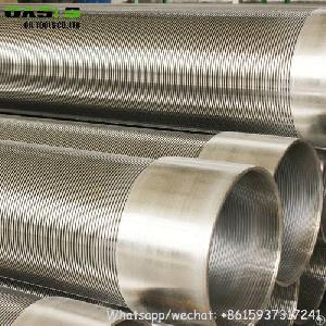 stainless steel micro filter johnson v wedge wire screen ss304l