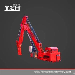 Fixed Hydraulic Rockbreaker Boom Systems For Jaw Crusher