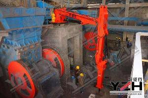 Pedestal Hydraulic Rock Breaker Boom System For Jaw Crusher