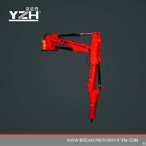 stationary pedestal hydraulic boom rock breaker systems