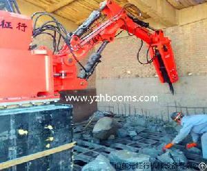 stationary rockbreaker boom assemblies match job
