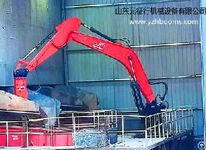 stationary hydraulic rockbreaking booms system