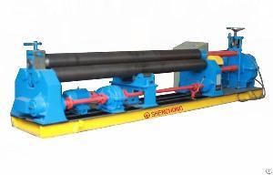 Asymmetry Three-roll Metal Roller Machine For 3200mm Sheet Metal Rolling