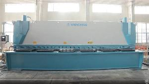 cnc hydraulic shearing machine 12mm 6200mm delem dac360 system