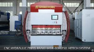 cnc press brake wgk 30t 1250mm hitech system