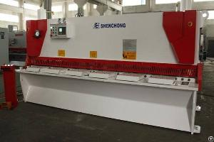 cnc hydraulic guillotine shear machine anti twist ce europe sold austria