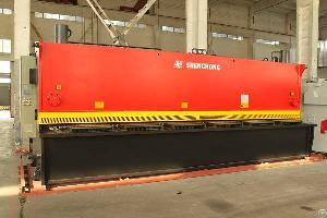 cnc hydraulic plate shearing machine 16mm 6m steel cutting