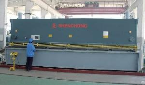 cnc hydraulic sheet metal plate shearing machine usa 12x6000mm