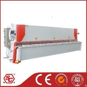 Hearvy Duty Cnc Hydraulic Guillotine Shear Machine 6m For 8mm Steel Plate Cutting