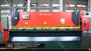 hydraulic guillotine metal shear 8mm 4000mm sheet fabrication