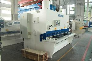 Hydraulic Guillotine Shear Machine 20�2500mm Sheet Metal Cutting Equipment