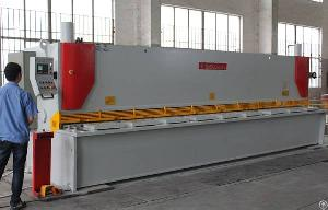 japan hydraulic guillotine shears 6000mm metal plate cutting